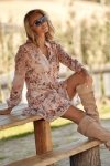 Sukienka z falbankami w kwieciste wzory w.1 M585