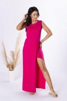 sukienka maxi z wycięciem