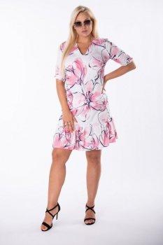 sukienka z dekoltem V