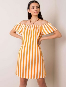 Sukienka-53-SK-9902.51-pomarańczowy