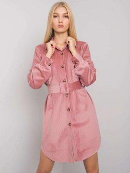Sukienka-DHJ-SK-10333.12P-ciemny różowy