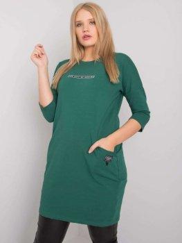 Sukienka-RV-SK-6939.73P-ciemny zielony