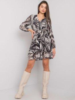 Sukienka-TW-SK-BI-2635.49P-czarno-beżowy
