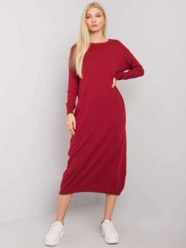 Sukienka-TW-SK-BI-ZS5052.45-bordowy