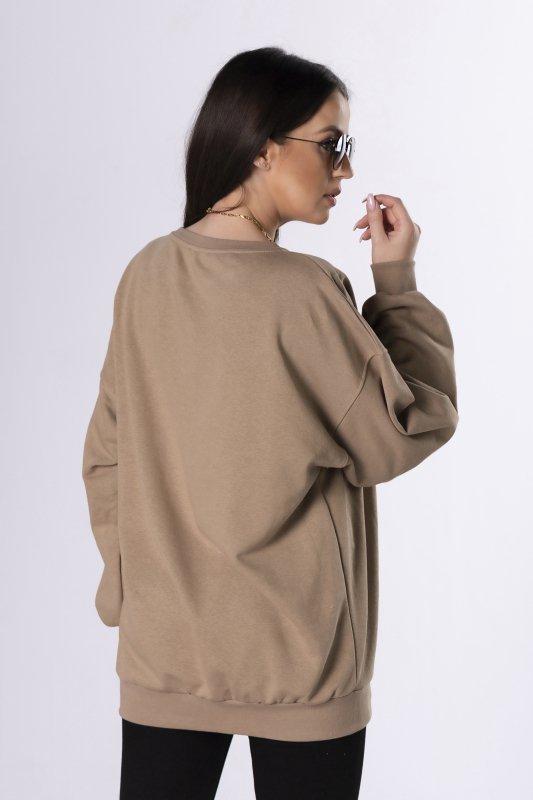 bluza oversize z nadrukiem