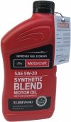 Olej silnikowy Motorcraft 5W20 SYNTHETIC BLEND MOTOR OIL 1l Lincoln Mercury