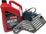 Filtr oleju oraz syntetyczny olej Motorcraft MERCON V automatycznej skrzyni biegów 5R55 Ford Explorer 2002-2010