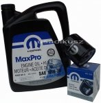 Oryginalny filtr oleju oraz olej MOPAR 10W30 Chrysler Voyager 2,0 / 2,4