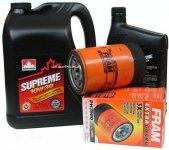 Filtr oleju oraz olej SUPREME 10W30 Chevrolet Lumina APV 3,1 V6