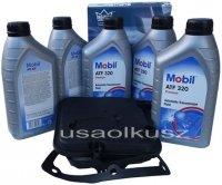 Półsyntetyczny olej MOBIL ATF320 oraz filtr oleju skrzyni biegów 4-spd Dodge Charger V6 -2010