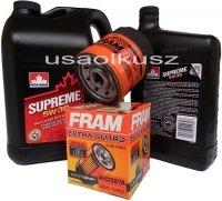 Filtr oraz mineralny olej 5W30 GMC Savana 4,3 V6 2000-