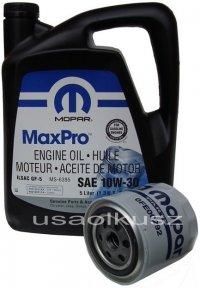Filtr + olej MOPAR 10W30 Chrysler 300C V6 -2008