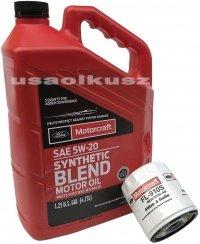 Oryginalny filtr oraz syntetyczny olej silnikowy Motorcraft 5W20 Ford Escape 1,6 EcoBoost