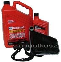 Filtr oraz syntetyczny olej Motorcraft MERCON V automatycznej skrzyni biegów Ford Windstar 2001-