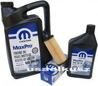 Olej MOPAR 5W30 oraz oryginalny filtr Dodge Caravan 3,6 V6 2014-