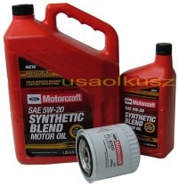 Oryginalny filtr oraz olej silnikowy Motorcraft 5W20 Ford Excursion