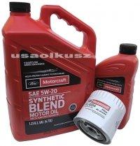 Oryginalny filtr oraz olej silnikowy Motorcraft 5W20 Ford Freestyle