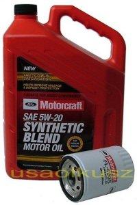 Oryginalny filtr oraz olej silnikowy Motorcraft 5W20 Ford Contour 2,0