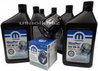 Olej MOPAR 0W20 oraz oryginalny filtr Jeep Cherokee KL 2,4