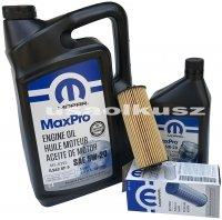 Olej MOPAR 5W20 oraz oryginalny filtr Chrysler Voyager Town Country 3,6 V6 -2013