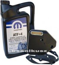 Olej MOPAR ATF+4 oraz filtr automatycznej skrzyni 3SPD Plymouth Breeze