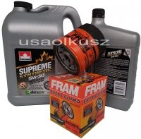 Filtr oraz syntetyczny olej 5W30 GMC Sonoma