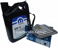 ORYGINALNY olej MOPAR ATF+4 5l oraz filtr oleju automatycznej skrzyni biegów Eagle Vision