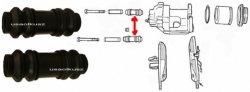 Osłonki prowadnic przedniego zacisku Jeep Comanche MJ 4x4