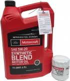 Filtr + olej silnikowy Motorcraft 5W20 SYNTHETIC BLEND Ford Fusion 1,6 EcoBoost