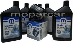 Filtr oraz olej MOPAR 10W30 Dodge Durango -2003