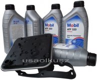 Filtr oraz olej skrzyni 4SPD Mobil ATF320 Chrysler 200 2,4 L4 -2014