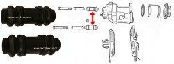 Osłonki prowadnic zacisku przedniego Dodge Stratus