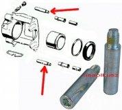 Zestaw prowadnic tylnego zacisku hamulcowego Jeep Grand Cherokee 2011-