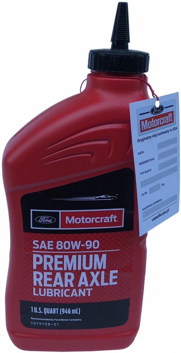 Olej tylnego mostu Motorcraft 80W-90 PREMIUM GL-5 1l Lincoln Mercury