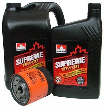 Filtr oleju oraz olej SUPREME 10W30 Dodge Caravan 2,0 / 2,4 16V