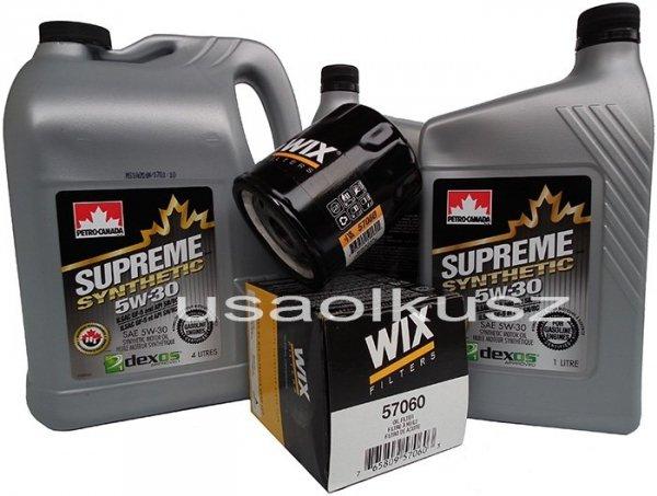 Filtr oraz syntetyczny olej 5W30 GMC Canyon V8