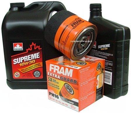 Filtr oleju FRAM PH16 oraz olej SUPREME 10W30 Jeep Cherokee XJ 4,0