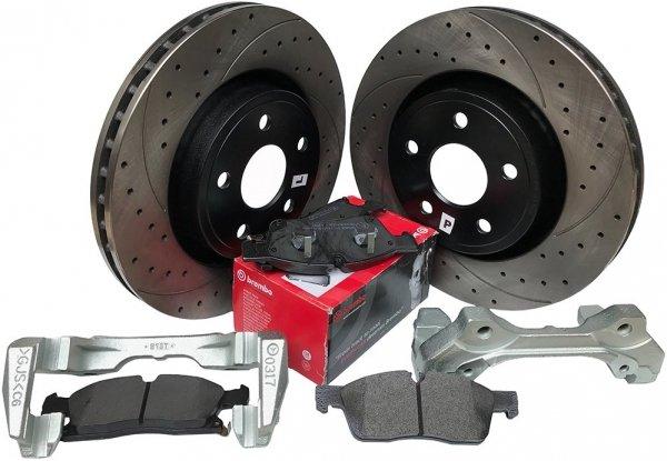 Przednie klocki BREMBO + WIERCONE tarcze hamulcowe HD  Dodge Durango 3,6 V6 2011-