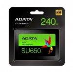 Dysk SSD ADATA Ultimate SU650 240GB 2,5 SATA3 (520/450 MB/s) 7mm, 3D NAND / Black Retail