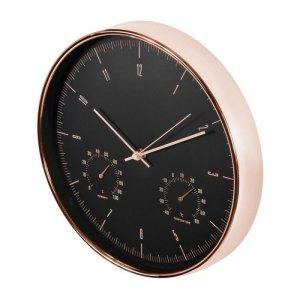 Zegar ścienny Maclean CE70G złoty 12'' z termometrem i higrometrem