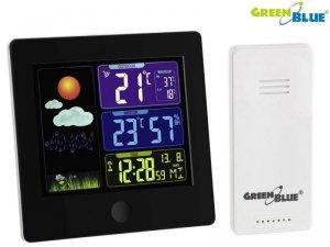 Stacja pogody bezprzewodowa GreenBlue GB521 DCF, czarna
