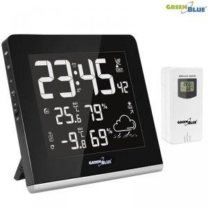 Stacja pogody bezprzewodowa GreenBlue GB151 9 kolorów, DCF, VA LCD