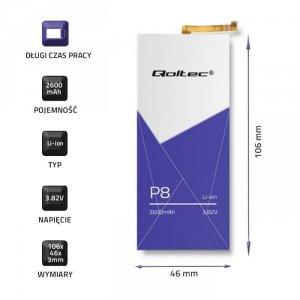 Bateria Qoltec do Huawei P8   2600mAh