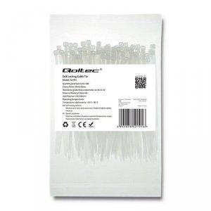 Opaska zaciskowa Qoltec   2.5*100   100szt   nylon UV   Biała