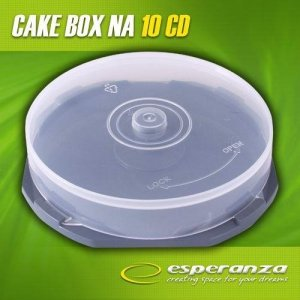 Pudełko Esperanza Cake Box na 10 CD pakowane w kartonie 3132 bezbarwne