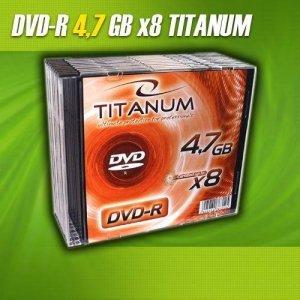 DVD-R Titanum 8x 4,7GB (Slim 1szt) 1073