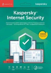 Licencja BOX Kaspersky Internet Security PL 2-urządzenia 1 rok Retail Card  - przy zakupie z komputerem lub notebookiem