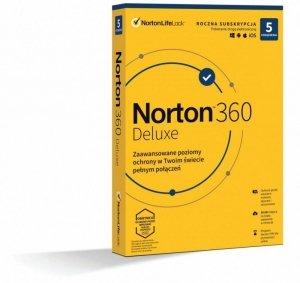 Oprogramowanie NORTON 360 Delux 50GB PL 1 użytkownik, 5 urządzeń, 1 rok
