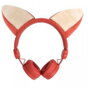 Forever słuchawki przewodowe Foxy nauszne jack 3,5mm pomarańczowe AMH-100