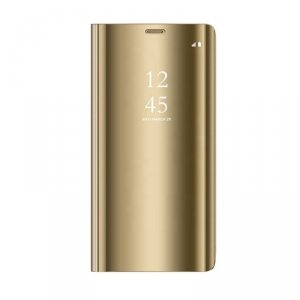 Etui Smart Clear View do Samsung Galaxy A42 5G złoty
